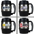 Choose Your NCAA Team 52oz Stainless  Plastic Macho Travel Mug w Bottle Opener
