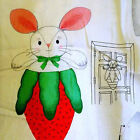 Peek-A-Boo  Bunny Easter  Door Hanger Fabric Panel