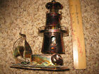 Vintage Copper Colored Tin/Metal Lighthouse Sailboat Music Box Chinese Craft