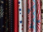Red White & Blue Fabric Jelly Roll 30 Piece 2.5