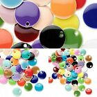 Mixed 6mm 8mm 12mm Silver Plated Enamel Candy Round Drops Charms 40 or 120pcs
