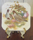 Royal Adderley Floral Bone China small Decor plate Pheasants w/ stand England