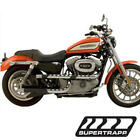 04 13 Harley Davidson XL Models SuperTrapp Black 3 Shield X Pipes Full Exhaust