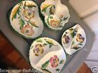 Beautiful Made In Italy Ceramic Hand Painted Relish Dishes Bowls Vintage