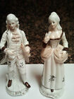 VICTORIAN VINTAGE FIGURINE OF MAN AND WOMAN SET Approx 9 1/4