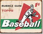 Vintage Topps Baseball Cards 1958 Pack Tin Sign Sports Bar