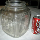 ANTIQUE ART DECO COUNTRY KITCHEN HOOSIER CABINET GLASS STORAGE FOOD COOKIE JAR