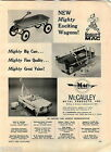 1966 ADVERT McCauley Metal Toy Products Road Service Peadl Car Coaster Wagon