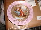 Victoria vintage china plate in pink and gold designs - Austria Women in garden