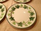 Vintage 1953-1958 Hand Decorated Franciscan Set of 4 Dinner Plates  Ivy Pattern