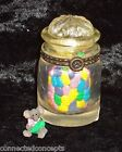 Boyds Bears Resin Hinged Treasure Box - Sweetie's Candy Jar with J.B. McNibble