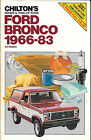 CHILTON FORD BRONCO 1966 83 CHILTONS 1966 1983 REPAIR  TUNE UP GUIDE NEVERUSED