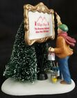 DEPT 56 PAINTING OUR OWN VILLAGE SIGN PERSONALIZE CHRISTMAS HOLIDAY ACCESSORY