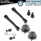 8 Piece Steering & Suspension Kit Wheel Hub & Bearings Ball Joints Control Arms