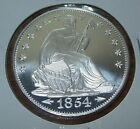 Liberty Seated Silver 1 Troy Oz 999 Fine Round Eagle One Ounce 1854 Dollar