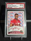 2009 Topps Rookie Premiere Michael Crabtree Auto RC RED INK SSP 10 PSA 10 RARE!