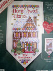 Christmas Dimensions Counted Cross Banner KITHOME SWEETNESSGingerbread8584