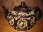 Antique Brown Enamel Decorated Teapot - BURSLEM Made In England, CORONIA