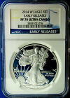 A PERFECT 2014 W PF 70 NGC CERTIFIED EARLY RELEASE AMERICAN SILVER EAGLE PROOF