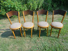 4 Thonet Vintage Bentwood Chairs MCM  made in Poland