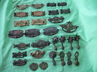 Job lot of old antique reclaim brass and metal door drawer pull handles