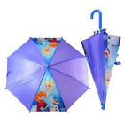 Disney Frozen Anna Elsa Olaf Umbrella Regular Handle For Kids Purple