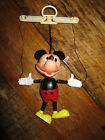 VINTAGE MICKEY MOUSE MARIONETTE PUPPET PLASTIC TOY