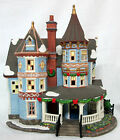 O'WELL Heartland Valley BLUE VICTORIAN LIGHTED CHRISTMAS VILLAGE HOUSE w/ PORCH