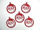 Santa Claus Ornament Tag Silhouette style Cardstock die cut bazzill