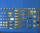 HOOSIER-McDougall-Sellers- BRASS/GLASS Drawer Handles-Knobs-Latches-Hinges-Repr