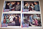 WHEN THE LIGHTS GO ON AGAIN (1944) JIMMY LYDON WWII LOT OF 4 ORIG LOBBY CARDS