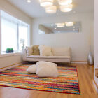 Abstract Lines Stripes Contemporary Area Rug Multi Color Floor Dcor Carpet