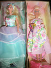 LOT OF 2 NEW AVON SPECIAL EDITION SPRING TEA PARTY BARBIES PINK AND BLUE