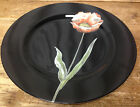 1 Dinner Plate Fitz & Floyd Midnight Poppy Japan Orange Flower Black 23798