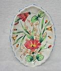 Vintage Hand-painted Italian Ceramic oval Platter Venice Floral 1950s-1960s