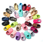 top Baby Soft Sole Leather Shoes Toddler Infant Boy Girl Tassel Moccasin SB
