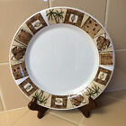 4-Oneida BOMBAY Dinner Plates Palm Tree's Excellent Condition!