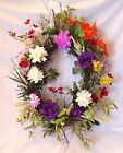 SUMMER OVAL GRAPEVINE WREATH MULTI COLOR FLOWERS GREENERY WALL DOOR GIFT 24 x28