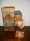 VINTAGE 1962 CHARLEY WEAVER BUTTERY POWERED BARTENDER TOY O/B FOR RESTORATION