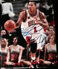 DERRICK ROSE SIGNED AUTOGRAPH CHICAGO BULLS STAR ACTION 11x14 PHOTO COA