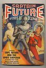 Captain Future Winter 1940 Vintage Pulp Magazine Very Good First Issue