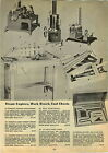 1947 PAPER AD Weeded Toy Steem Engine Upright Alcohol Fuel