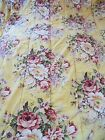 Vintage Ralph Lauren Queen Size Quilt Yellow Floral Romantic Cottage Made in USA