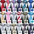 USA 300 Colors Blue Red Black Grey Green Pink Gold Silk Mens Tie Necktie Set