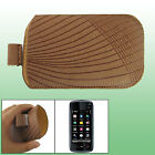 For Nokia 5800 Pull Up Brown Stripe Protector New