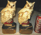 ANTIQUE MARION BRONZE CLAD MFG. CO. WILD OWL STATUE SCULPTURE BOOKENDS DOORSTOP