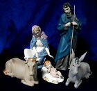 NAO BY LLADRO GRES NATIVITY SET BNIB CHRISTMAS JESUS MARY JOSEPH CALF DONKEY