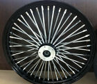 FAT SPOKE 21 BLACK FRONT WHEEL HARLEY FLHX STREET GLIDE ELECTRA GLIDE FLHTC