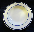 Shenango china shallow rimmed  bowl US Navy blue anchor logo 1930's?