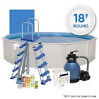 Oceania 18 Round Above Ground Hardwall Swimming Pool Pack w Chemical Start Kit